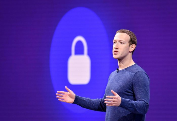 In this file photo taken on May 1, 2018 Facebook CEO Mark Zuckerberg speaks during the annual F8 summit at the San Jose McEnery Convention Center in San Jose, California. (AFP File Photo)