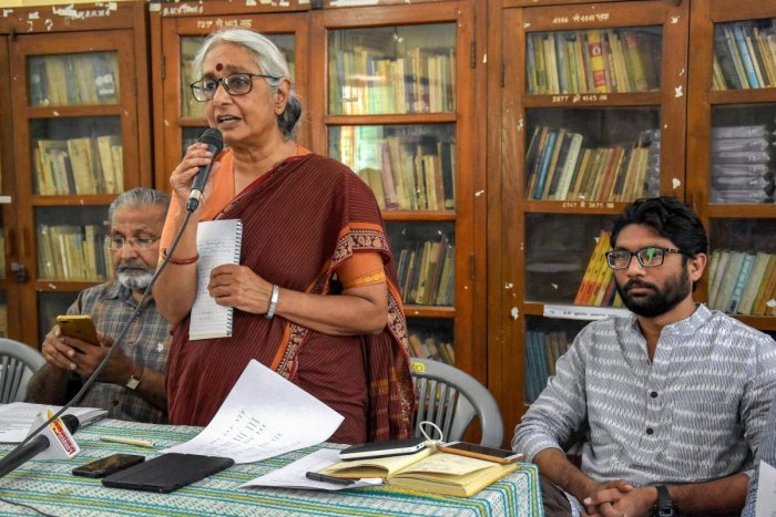 Why women who have contributed outstandingly to public policy making and the nation's good - and not just the good of women - such as Medha Patkar, Aruna Roy (centre in photo)etc., have never been considered for nominations or elections to the legislatures or parliament is a question political parties need to answer.