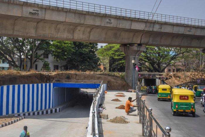 The railway underpass at Srirampuram connects Malleswaram to Rajajinagar, Gayatrinagar and Srirampuram. DH Photo/S K Dinesh