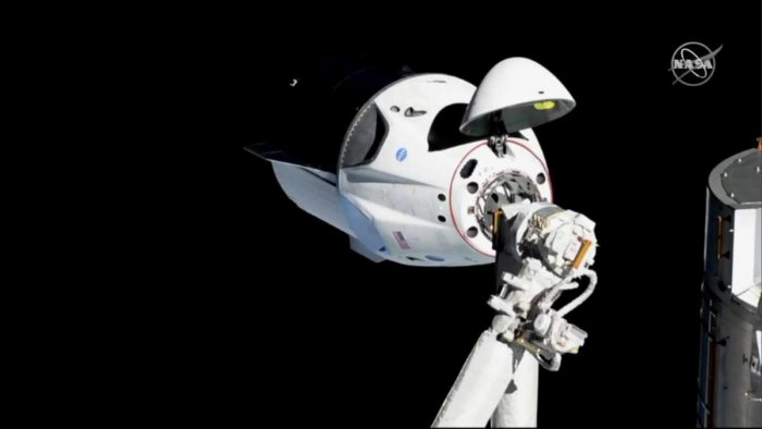 The SpaceX Crew Dragon capsule approaches the International Space Station. Reuters file photo