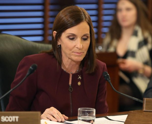 Sen. Martha McSally speaks during a Senate Armed Service Committee on prevention and response to sexual assaults in the military. AFP file photo