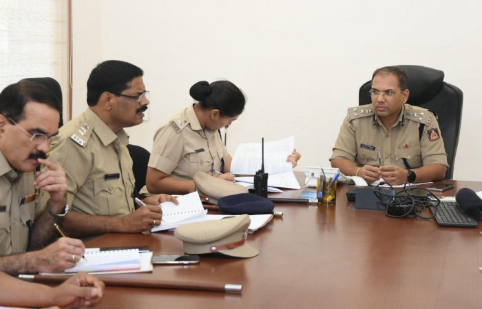 City Police Commissioner Sandeep Patil replies to a question at the phone-in programme on Friday.