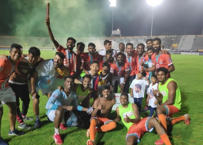 Triumphant Chennai City emerged champions of the I league. Instagram