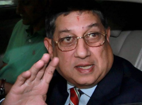 BCCI re-confirm Srinivasan's candidature for ICC chief's post