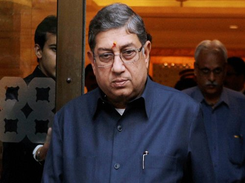 SC tells Srinivasan to maintain distance from BCCI working committee