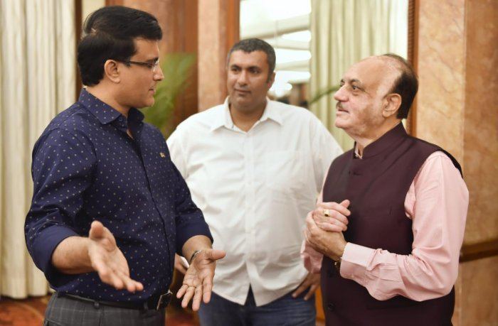 HITTING OUT Sourav Ganguly (left) has written a letter to BCCI acting president CK Khanna (right) and treasurer Anirudh Chaudhry, expressing concern over how the BCCI is run. PTI