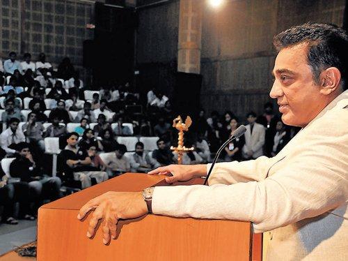 Use your skills in film industry, Kamal Haasan tells IIMB students