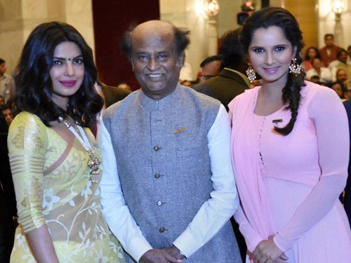 Rajinikanth, Sania, Priyanka Chopra honoured with Padma awards