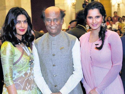 Priyanka, Rajini, Sania honoured with Padma awards