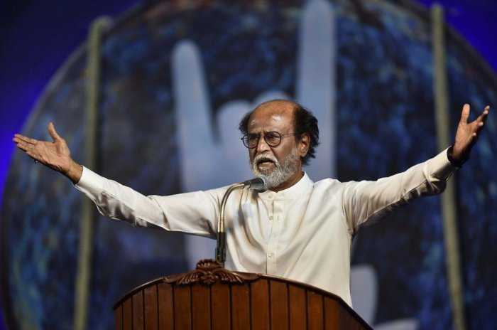 Rajinikanth also criticised the Karnataka Film Chamber of Commerce for being on the side of the fringe groups that have called for a ban on Kaala in the state. (PTI file photo)