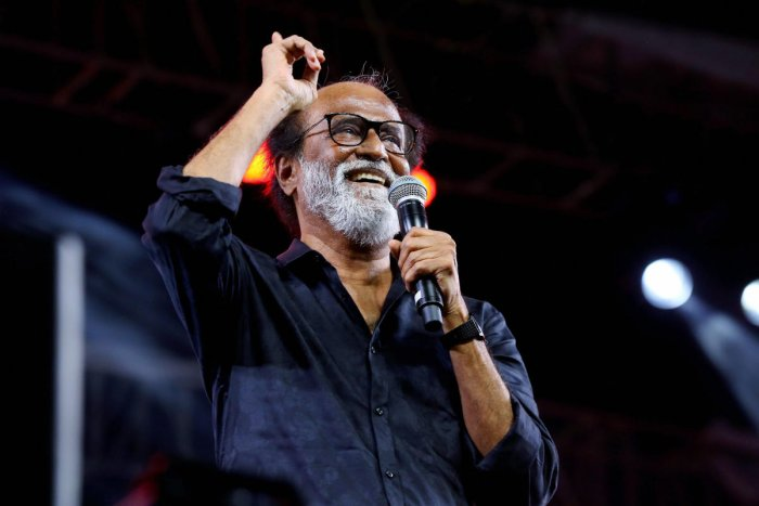 """Tamil superstar Rajinikanth said on Friday that """"no force"""" can separate him from his fans and urged his followers to tread the path of fairness. PTI file photo"""