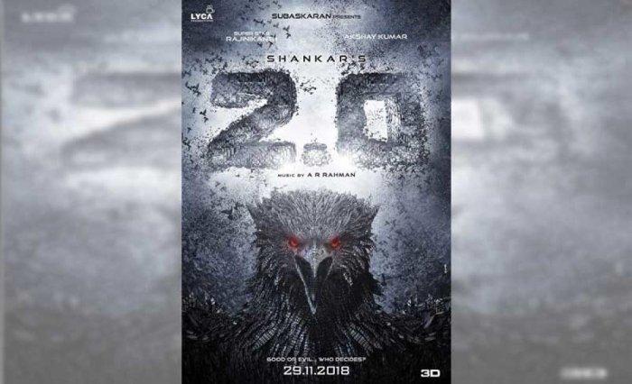 2.0 movie poster. (Twitter/@2Point0movie)