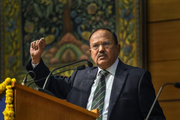 """The Congress on Tuesday cited a 2010 interview of National Security Advisor Ajit Doval to claim that he blamed the BJP-led government for the release of JeM chief Masood Azhar in the Kandahar hijacking episode and gave a """"clean chit"""" to the terrorist. PTI"""