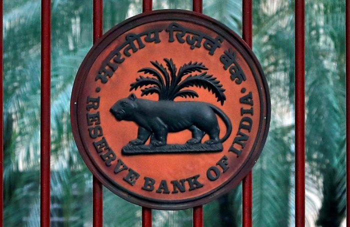 FILE PHOTO: A Reserve Bank of India (RBI) sign on the gate of its office in New Delhi, India, November 9, 2018. REUTERS/Altaf Hussain/File Photo
