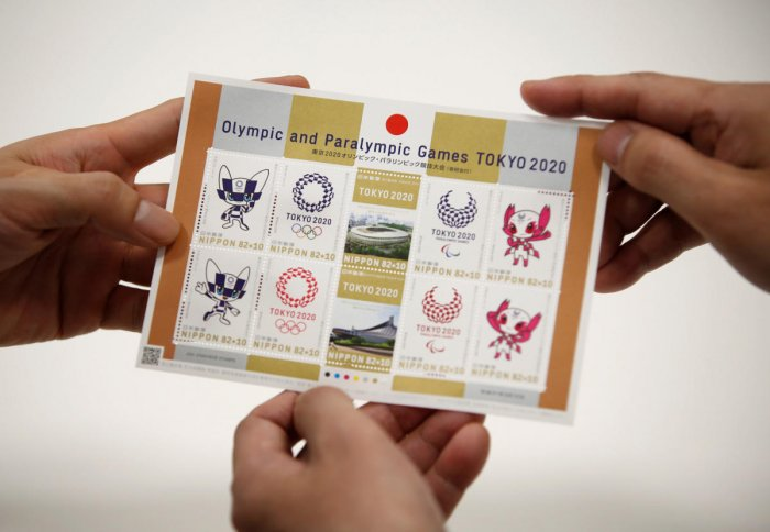 The Tokyo 2020 stamps that were released on Tuesday. Reuters