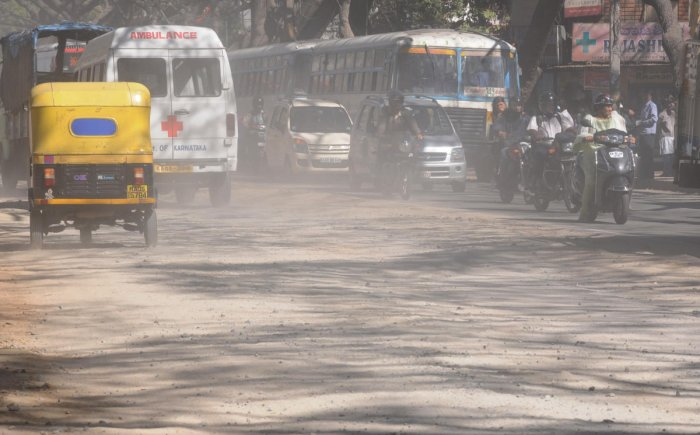 Smoke from vehicles, mixed with street-side dust, can cause serious health problems.