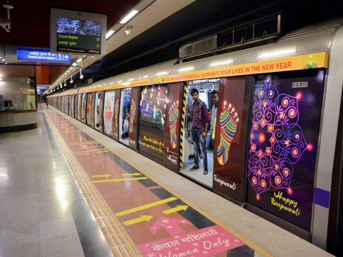 A 24-year-old woman allegedly jumped on the tracks at Dwarka Mor station on Tuesday morning to fetch her money which had fallen there, leading to brief disruption of services on the Delhi Metro's Blue Line, officials said. File photo
