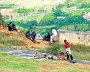 Retention wall at Nandi Hills to prevent accidents