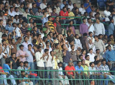 High security turns Bangalore stadium into fortress