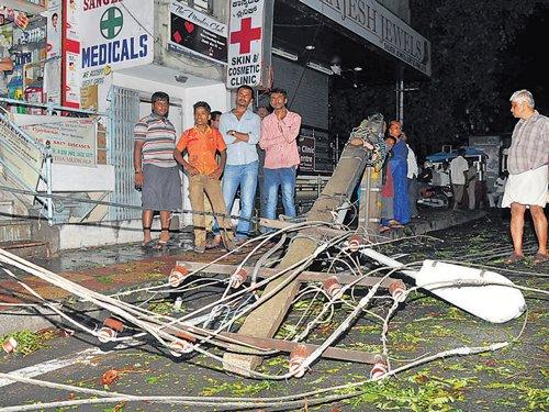 Heavy rain lashes Bangalore South