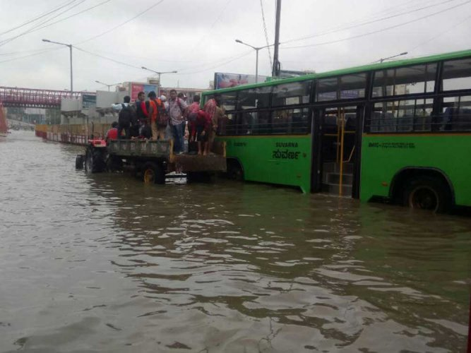 No end to rain woes for city; roads waterlogged, homes flooded