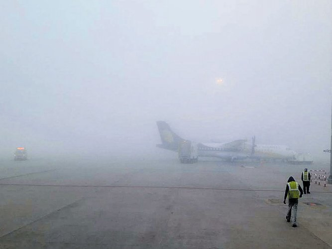 Fog disrupts 40 flight operations at KIA