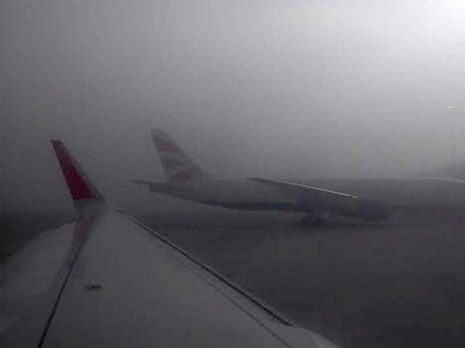 Fog hits 46 flight operations at KIA