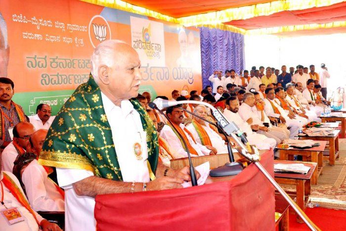 Cong govt failed in ensuring law and order, says BSY