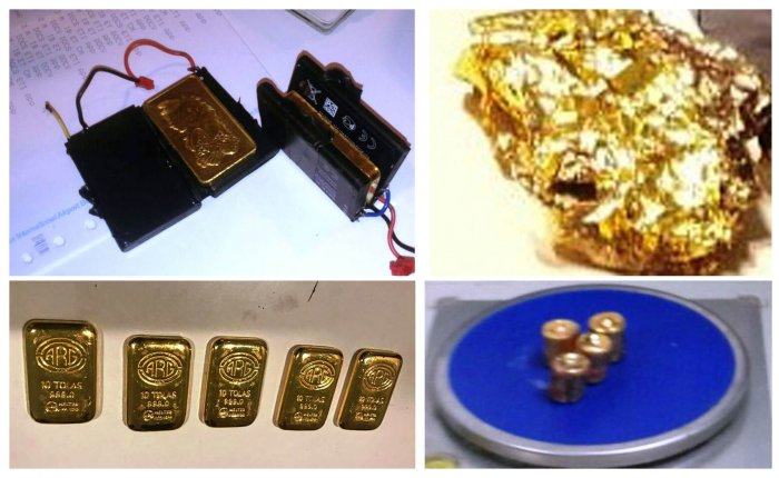The items seized by customs officials at the Kempegowda International Airport.
