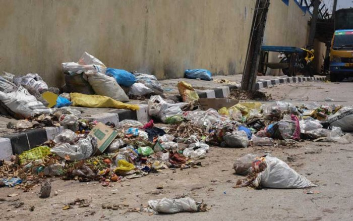 As the contractors are protesting, garbage has not been cleared across the city. Door-to-door garbage collection is also affected. Representative image.