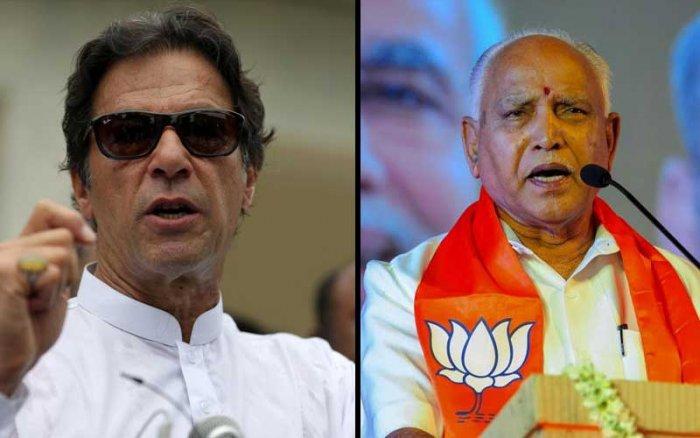 Imran Khan and B S Yeddyurappa