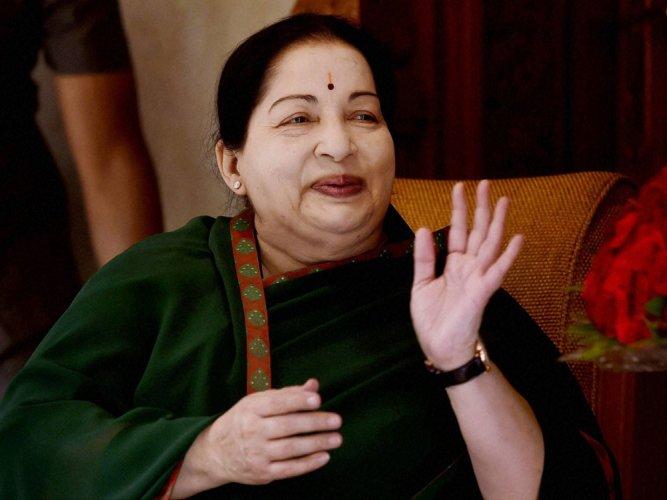 J Jayalalithaa. PTI file photo.