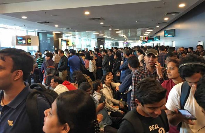 The queues at the country's third busiest airport are widespread with passengers forced to stand for long hours at the baggage and security screening gates. (File image for representation)