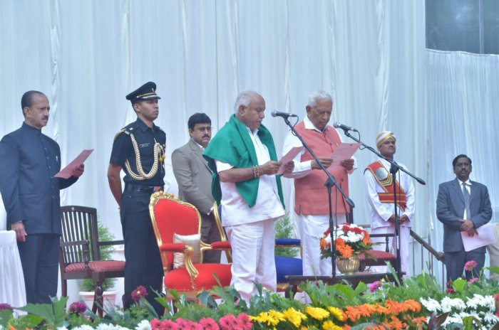 Many people felt it was too early for Yeddyurappa to have taken office while some others called it the right decision as the BJP emerged thesingle largest party.DH photo