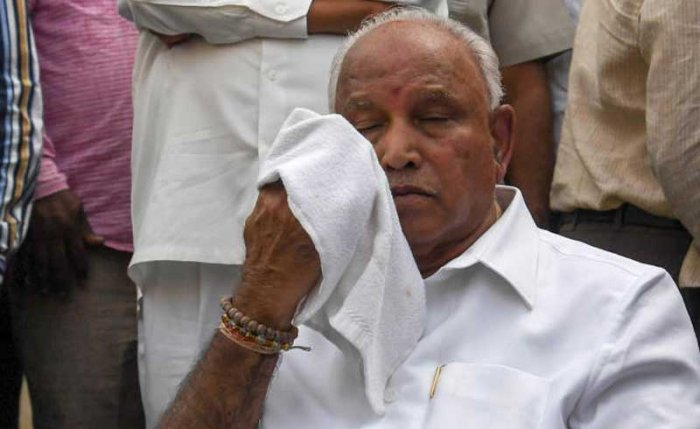 Yeddyurappa has admitted that the voice on the clip was his. DH File Photo.