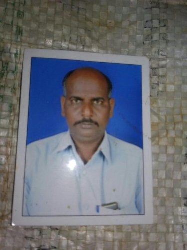 Rangappa, an ardent fan of B S Yeddyurappa who died of heart attack when the latter resigned from CM's post. DH photo.