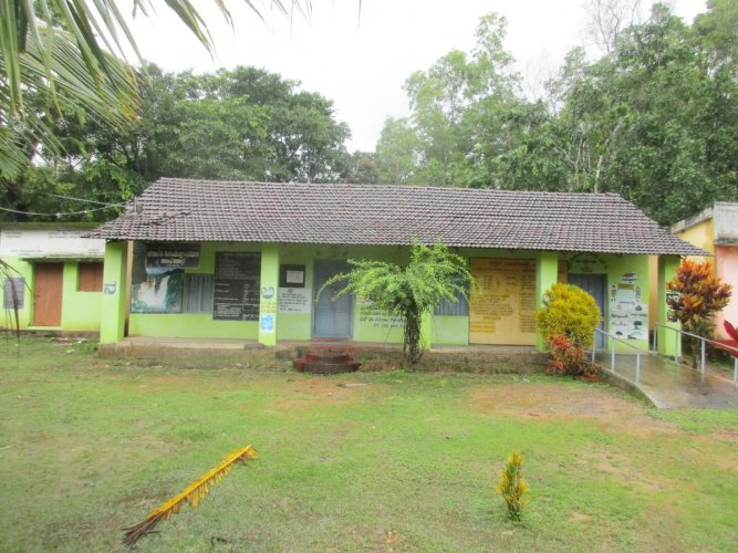 A view of lower primary school at Aralikoppa in N R Pura taluk that was closed down due to zero enrolment.