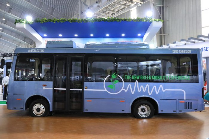 Electric bus manufactured by Olectra Greentech Limited