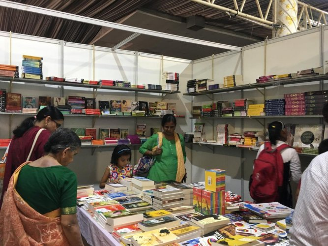 Apart from books on offer, there are also cultural performances, food stalls, and visits from well-known artists at the Bangalore Book Festival.