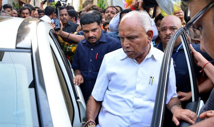 Yeddyurappa is scheduled to visit Channabasappa's family on Monday to offer condolences. DH file photo