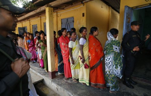Arunachal voters flock to booths despite bad weather