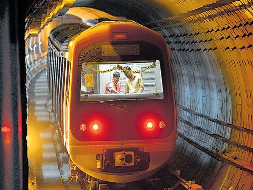 Now Namma Metro tunnel ride just a few months away