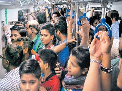 Bengalureans go purple with Namma Metro