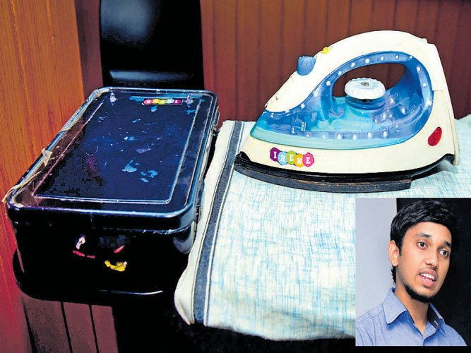 Mangaluru student develops iron box that can heat up in just a second