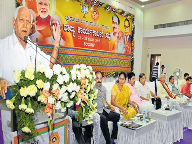 Brigade indulging in anti-BJPactivities, says Yeddyurappa