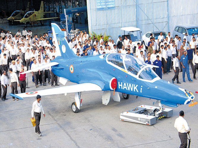 HAL rolls out first indigenously upgraded Hawk-i