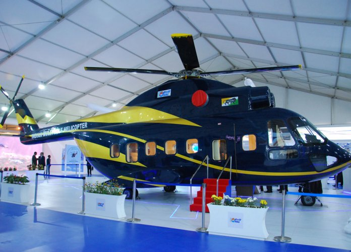 HAL unveils full-scale mock-up  of Indian Multi Role Helicopter