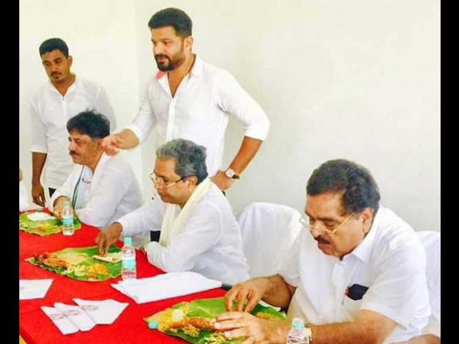 CM Siddaramaiah's visit to temple after eating meat kicks up row