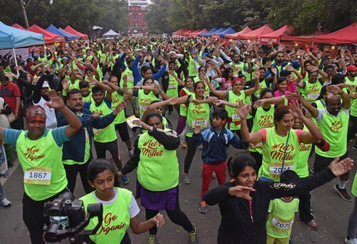Bengaluru runs to promote healthy food