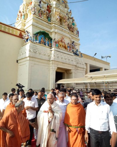 Yeddyurappa offers special puja at MM Hills